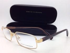 DAVID YURMAN Rx-able Eyeglasses DY 612 04 Gold Plated Titanium Frame w/ ... - $199.95