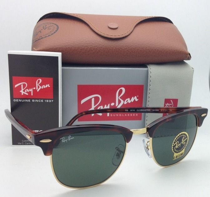 ff31e4a9d6 S l1600. S l1600. Previous. Ray-Ban CLUBMASTER Sunglasses RB 3016 W0366 49- 21 Tortoise Gold Frames G