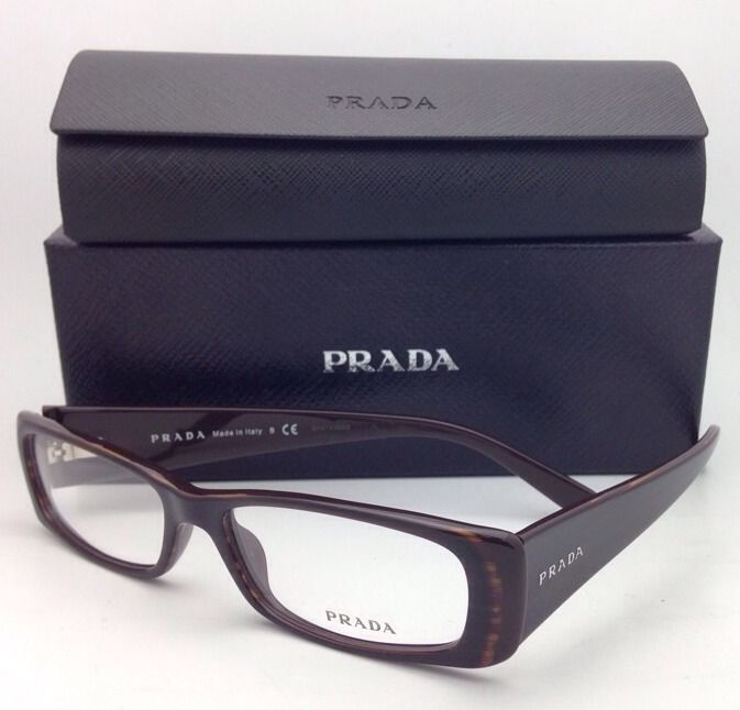 d62bd9cc6a New PRADA Eyeglasses VPR 17L 7N6-1O1 53-15 135 Brown Frames w  Clear Demo  lenses -  229.95