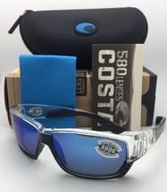 Polarized COSTA Sunglasses TUNA ALLEY TA 39 Crystal-Black Frame w/ Blue Mirror