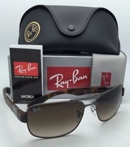 New RAY-BAN Sunglasses RB 3522 029/13 61-17 Gunmetal & Tortoise Frame with Brown