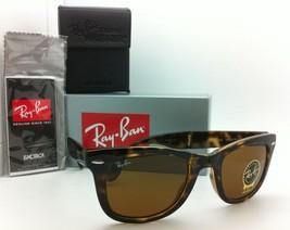 Ray-Ban Sunglasses FOLDING WAYFARER RB 4105 710 50-22 Tortoise with Brown Lenses