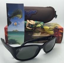 Polarized Maui Jim Sunglasses MJ 286-02H KUIAHA BAY Black Frame w/ Neutral Grey