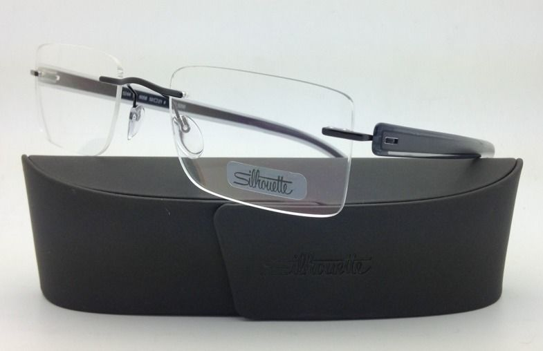 Primary image for New SILHOUETTE Eyeglasses MODERN SHADES 5244 6058 53-21 Grey Black w/Clear lens
