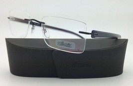 New SILHOUETTE Eyeglasses MODERN SHADES 5244 6058 53-21 Grey Black w/Clear lens