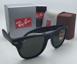 Ray-Ban Sunglasses FOLDING WAYFARER RB 4105 601-S 54-20 Matte Black w/ G15 Green