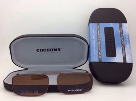 COCOONS Amber Polarized Sunglasses/Eyeglasses Over Rx Clip-on REC 15-48 Bronze