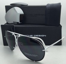 PORSCHE DESIGN Titanium Aviator Sunglasses P'8478 P 66-10 White w/ 2 Lens Sets