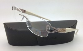 New Jeweled SILHOUETTE Eyeglasses 6760 6052 51-18 Ivory & Pewter w/ Clea... - $599.95