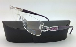 New Jeweled SILHOUETTE Eyeglasses 6762 6050 50-18 Silver & Purple w/Clea... - $599.95