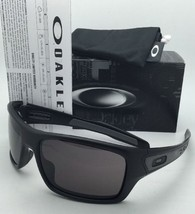 New OAKLEY Sunglasses TURBINE OO9263-01 Matte Black Frame w/ Warm Grey lenses