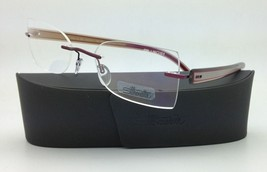 SILHOUETTE Eyeglasses MODERN SHADES 4306 6055 50-19 Red Ivory Pearl w/Cl... - $265.95
