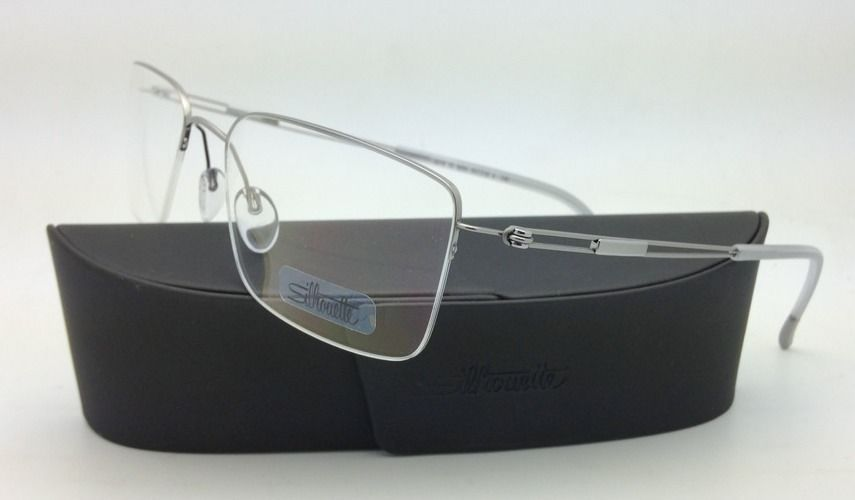 SILHOUETTE Eyeglasses TITAN NEXT GENERATION NYLOR 5278 6050 55-18 Silver w/Clear