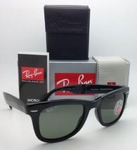 Polarized RAY-BAN Sunglasses FOLDING WAYFARER RB 4105 601/58 50-22 Black w/Green