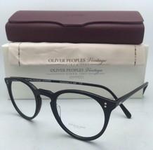 New Oliver Peoples Vintage Eyeglasses O'malley Ov 5183 1005L 45-22 Black Frame - $369.95
