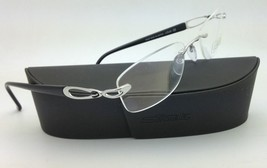 New SILHOUETTE Eyeglasses 6678 6050 51-19 Black & Silver w/ Clear Demo l... - $269.95