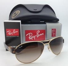 New Ray-Ban Sunglasses RB 3509 001/13 63-15 Gold & Havana w/ Brown gradient lens