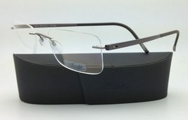 New SILHOUETTE Eyeglasses ZENLIGHT 7638 6056 53-21 Brown w/ Clear Demo l... - $265.95