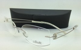 New SILHOUETTE Eyeglasses TITAN ELEMENTS 4259 6054 52-17 Silver with Dem... - $299.95