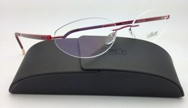 New SILHOUETTE Eyeglasses ZENLIGHT 6692 6053 52-17 Oval Red w/ Clear Dem... - $265.95