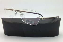 New SILHOUETTE Eyeglasses ZENLIGHT 6691 6054 51-17 Brown & White w/ Clea... - $265.95