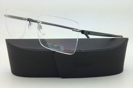 New SILHOUETTE Eyeglasses ZENLIGHT 7637 6061 54-19 Graphite Grey w/ Clea... - $265.95