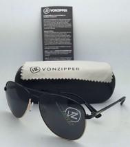 New VONZIPPER Sunglasses VZ FARVA Black & Gold Aviator Frame w/ Grey Lenses