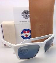 New VUARNET Polarized Sunglasses VL 0006 0004 White Frame w/ POLARLYNX Blue-Grey