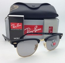 Polarized CLUBMASTER Ray-Ban Sunglasses RB 3016 901S/P2 Black&Gold w/Gre... - $249.95