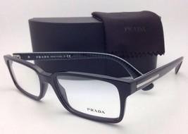 New PRADA Eyeglasses VPR 15Q 1AB-1O1 54-17 145 Black Plastic Frame w/Demo Lenses
