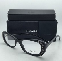 New PRADA Eyeglasses VPR 21R 1AB-1O1 53-19 140 Shiny Black Frames w/Clear Lenses