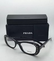 New PRADA Eyeglasses VPR 21R 1AB-1O1 51-19 140 Shiny Black Frames w/Clear Lenses