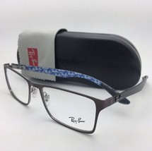 New RAY-BAN Rx-able Eyeglasses RB 8415 2862 53-17 Brown-Blue w/ Carbon Fiber