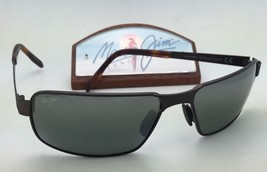 Polarized MAUI JIM Sunglasses CASTAWAY MJ 187-01M Matte Choco Brown w/ G... - $329.95