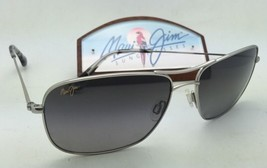 Polarized MAUI JIM Sunglasses WIKI WIKI MJ 246-17 Silver Frame w/ Grey G... - $299.95