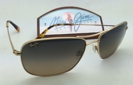 Polarized Maui Jim Sunglasses Wiki Wiki Mj 246-16 Gold Frame w/HCL Bronze Lenses - $299.95