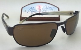Polarized Maui Jim Sunglasses Black Coral Mj 249-19M Matte Bronze w/ Hcl Bronze - $299.00