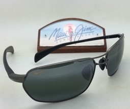 Polarized Maui Jim Sunglasses Maliko Gulch Mj 324-02D Gunmetal Frame w/Grey Lens - $349.95