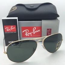 Ray-Ban Sunglasses LARGE METAL II Aviator RB 3026 L2846 62-14 Gold Frames w/ G15