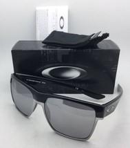 New OAKLEY Sunglasses TWOFACE XL OO9350-07 Polished Black w/ Chrome Iridium Lens