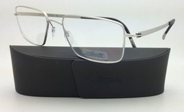 New SILHOUETTE Eyeglasses TITAN NOTION 5287 6050 54-18 Silver w/ Clear l... - $279.95