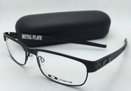 New OAKLEY Titanium Eyeglasses METAL PLATE OX5038-0555 55-18 Matte Black Frames