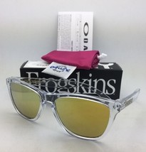 New OAKLEY FROGSKINS Sunglasses OO9013-A4 Polished Clear Frame w/ 24K Iridium