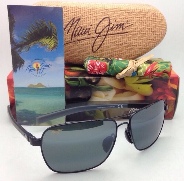 877d5afc72d S l1600. S l1600. Previous. New MAUI JIM Polarized Sunglasses FREIGHT TRAIN  MJ 326-02 Gunmetal ...