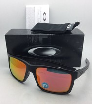 Polarized OAKLEY Sunglasses MAINLINK OO9264-07 Matte Black Frame w/ Ruby Iridium