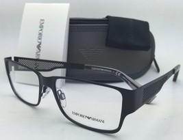New Emporio Armani Eyeglasses EA 1022 3001 53-16 Black Frames w/ Clear Demo Lens