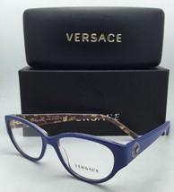 New VERSACE Eyeglasses VE 3183 5085 52-16 140 Blue & Baroque Frame w/ Demo Lens