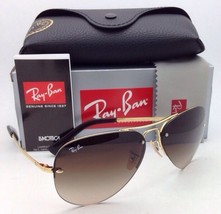 New Ray-Ban Sunglasses RB 3449 001/13 59-14 Arista Gold Frames Brown Fade Lenses