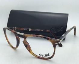Folding PERSOL Rx-able Eyeglasses 9714-V-M 108 50-20 Caffe Havana Frames w/Clear