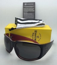 New VONZIPPER Sunglasses VZ PALOOKA Lux Black On Red Frame w/ Grey lenses